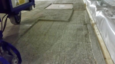 Betonfrezen op zwaluwplaat vloer