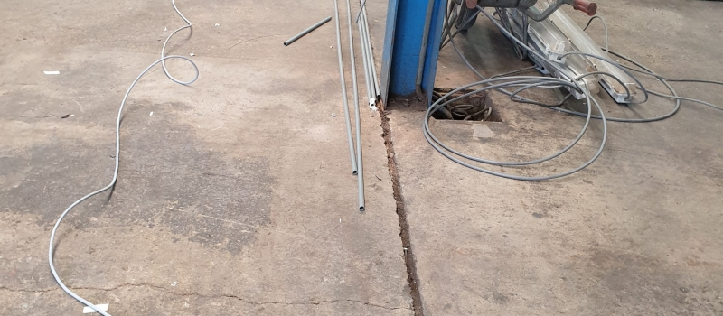 Herstel oude betonvloer