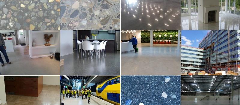 Diamant polijsten van beton, marmer, natuursteen, asfalt en zelfs keramische vloeren