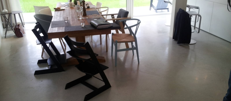 Woonbeton, beton polijsten, gepolijst beton, InTelliFloor