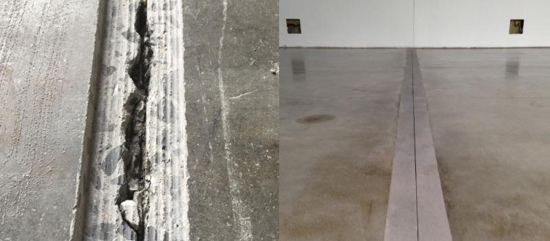 Dilatatievoeg betonvloer herstellen